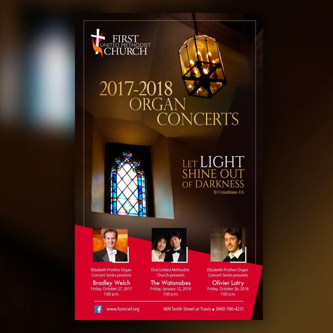 FUMC organ concerts ad design