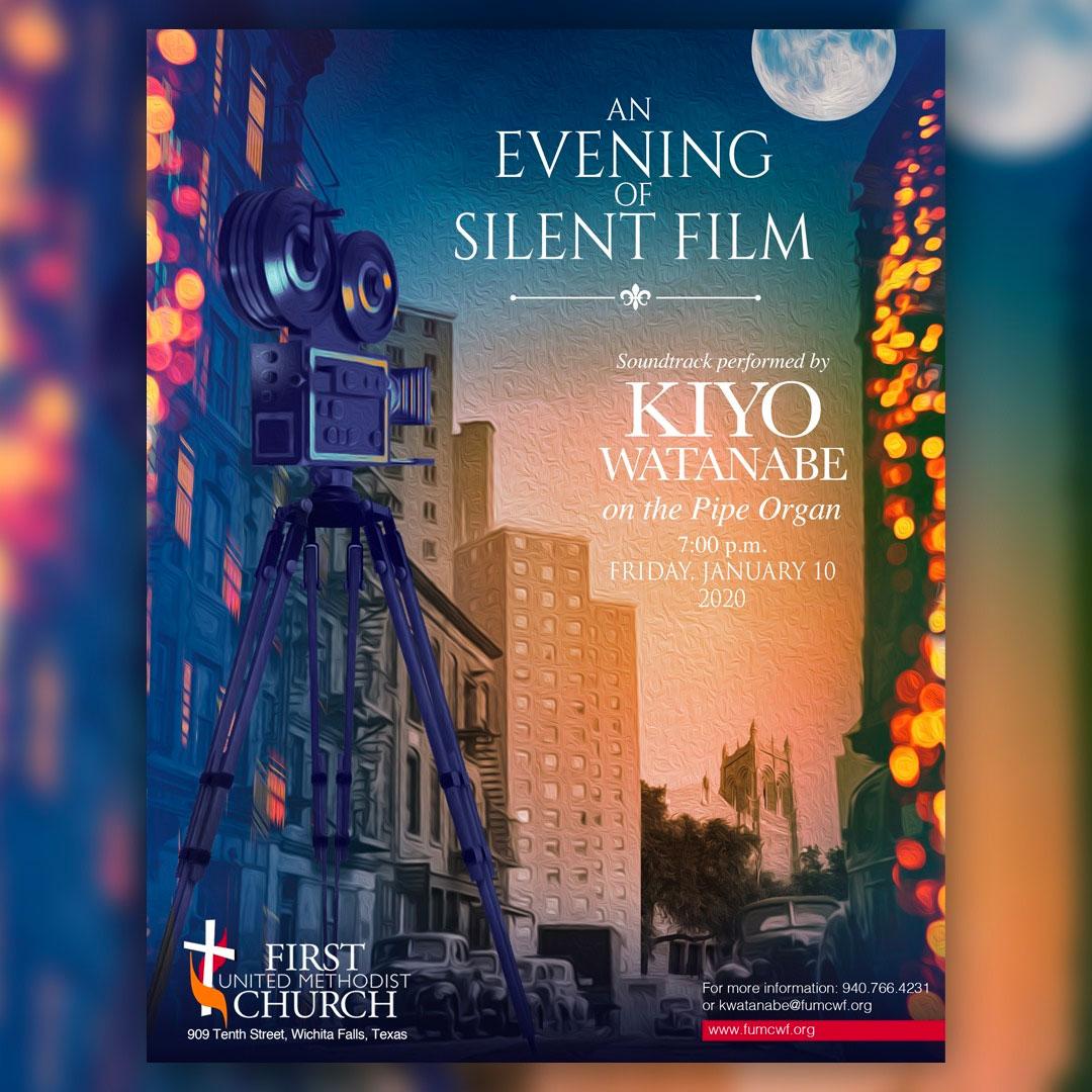 FUMC organ concerts poster design