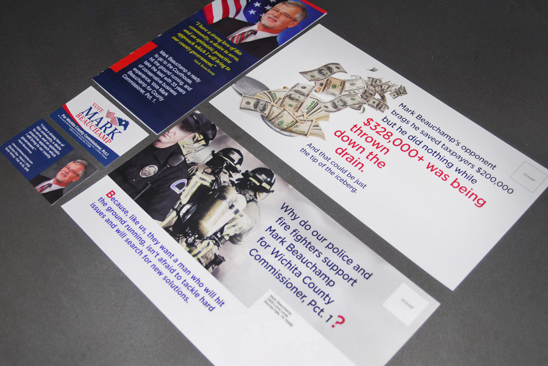 Political Campaign, Direct Mail Design and Copywriting