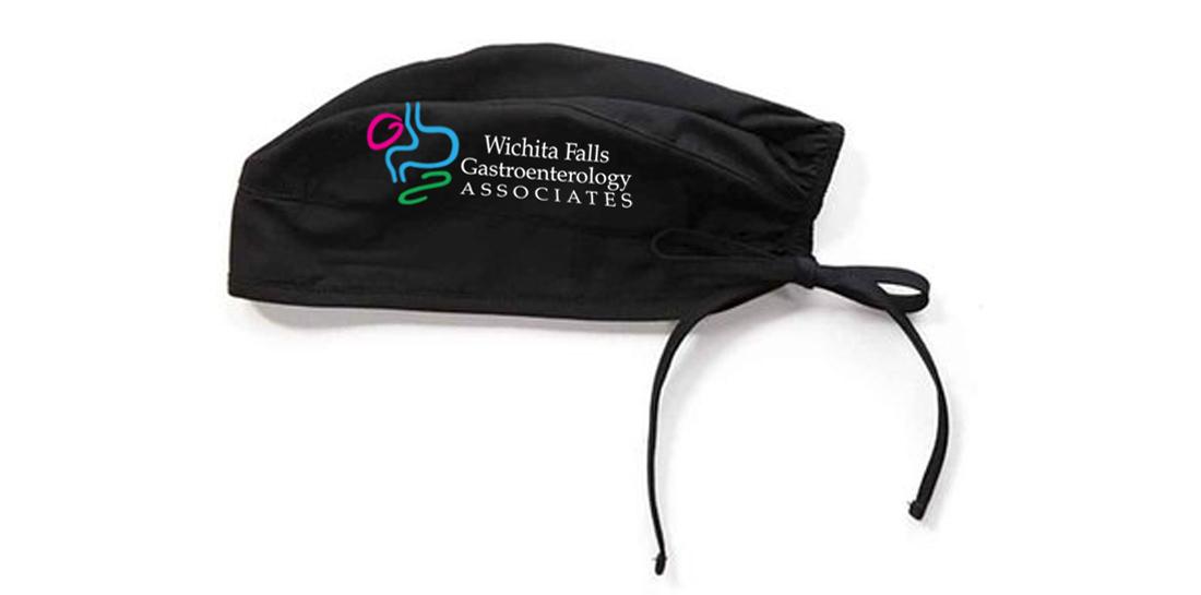 logo Design Print on Solid Medical Scrub Cap Head Wrap Hat