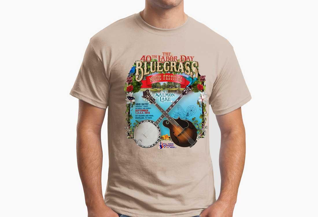 Texas Bluegrass Music T-shirt Design