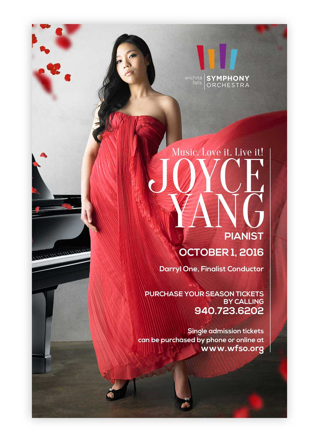 Joyce Yang Music Concert Poster Design