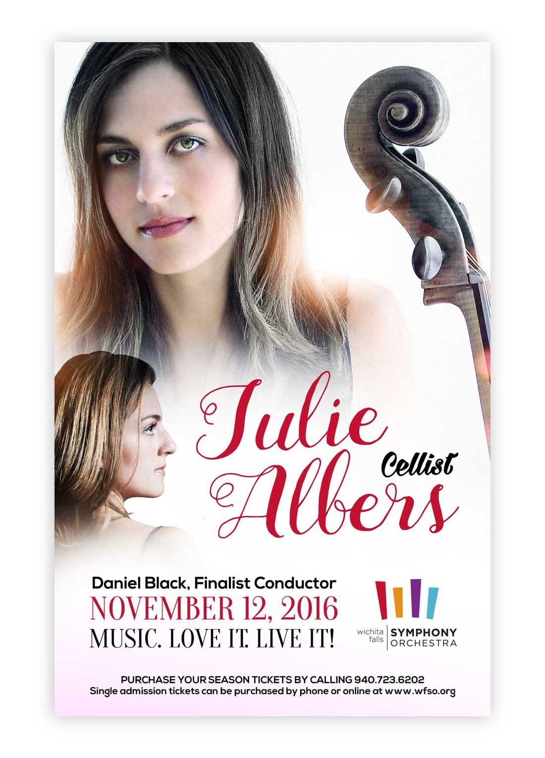 Julie Albers Music Concert Poster Design