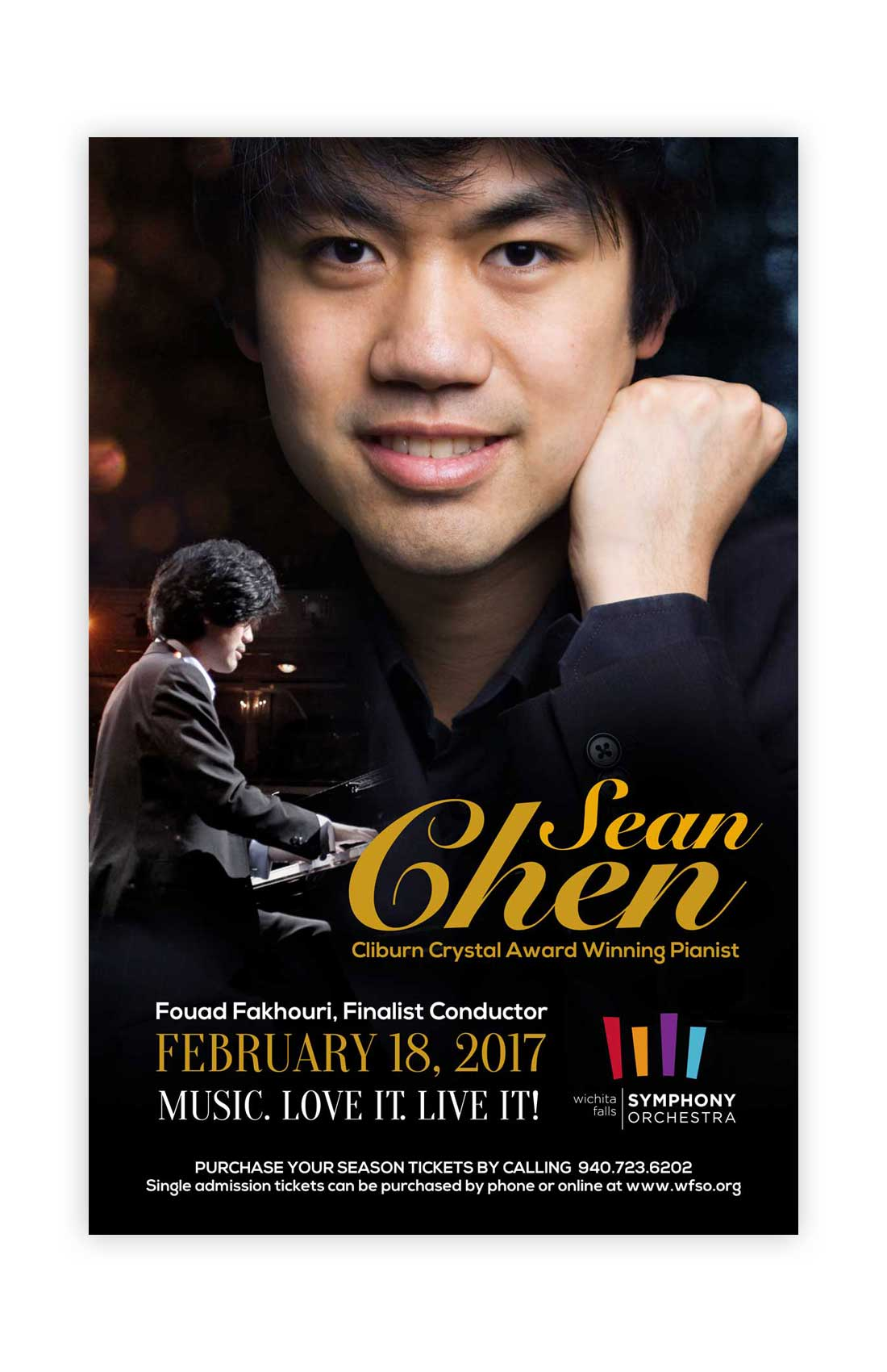 Sean Chen Music Concert Poster Design