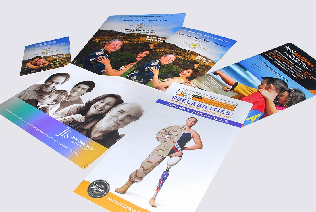 JFS Houston, Reelabilities, Brochure Design