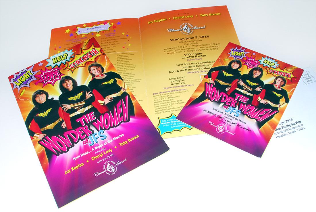 The Wonder Women of JFS, Invitation Design
