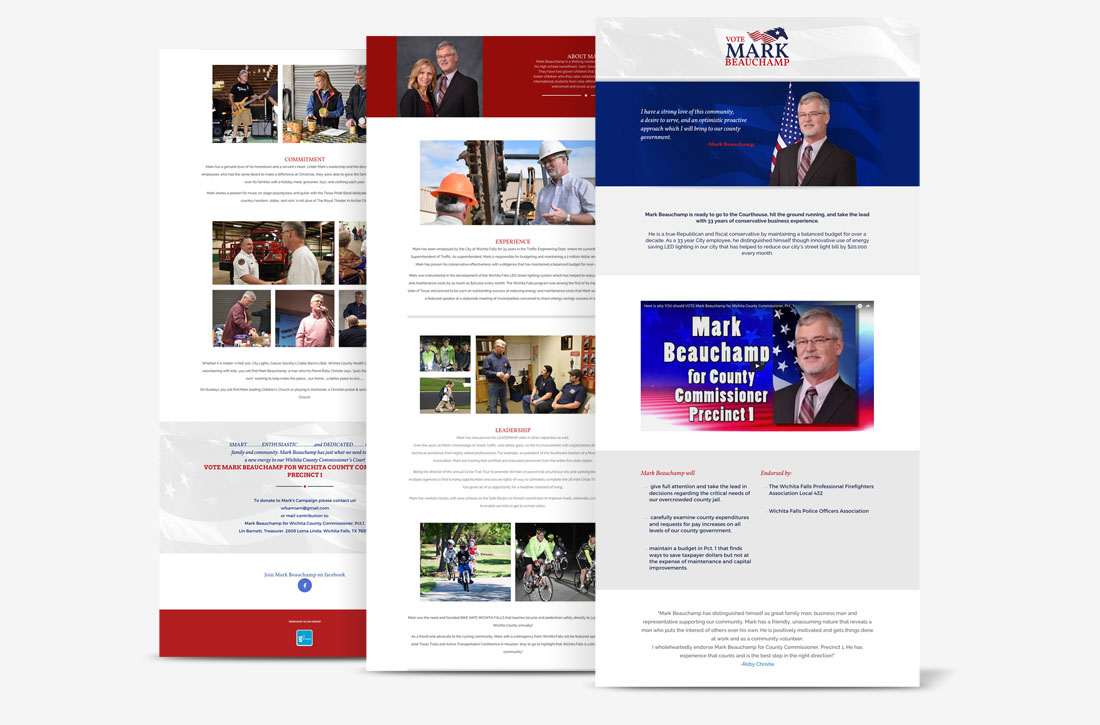 Mark Beauchamp Political Campaign, Website Design