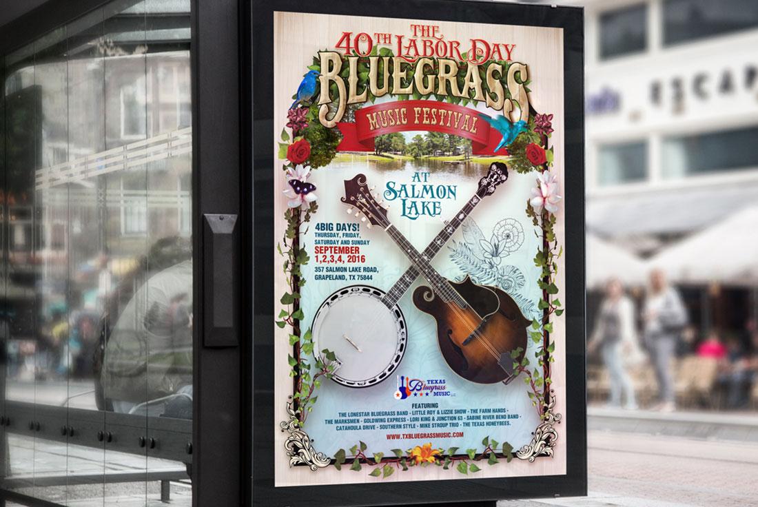 Texas Bluegrass Music Poster Design