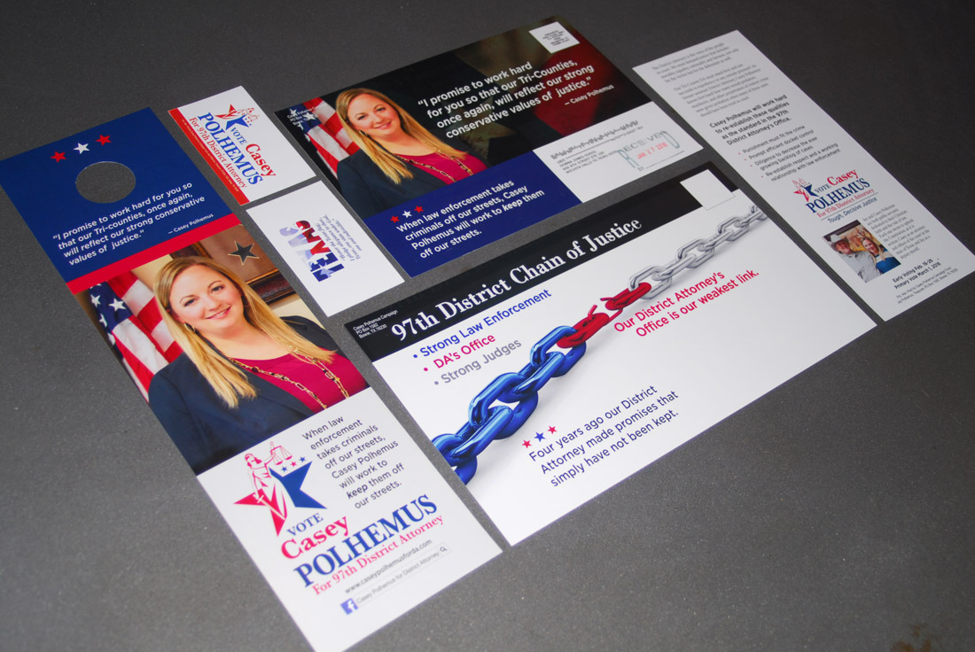 Political Campaign, Brochure, Direct mail Design