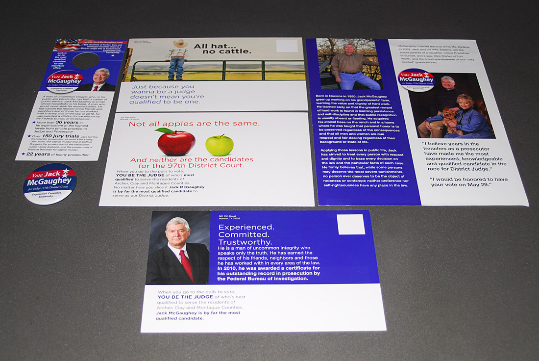 Jack McGaughey Political Campaign, Direct Mail Design and Copywriting