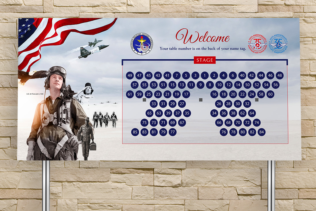 Sheppard Military Affairs Committee Sign Design