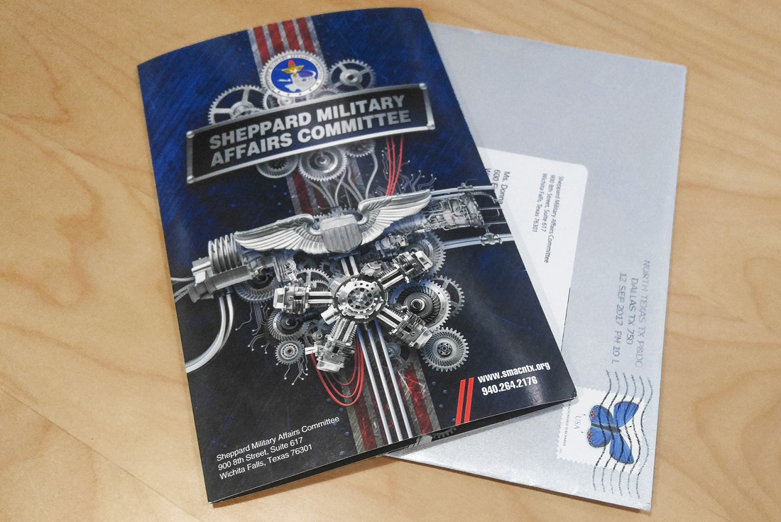 Sheppard Military Affairs Committee Direct Mail