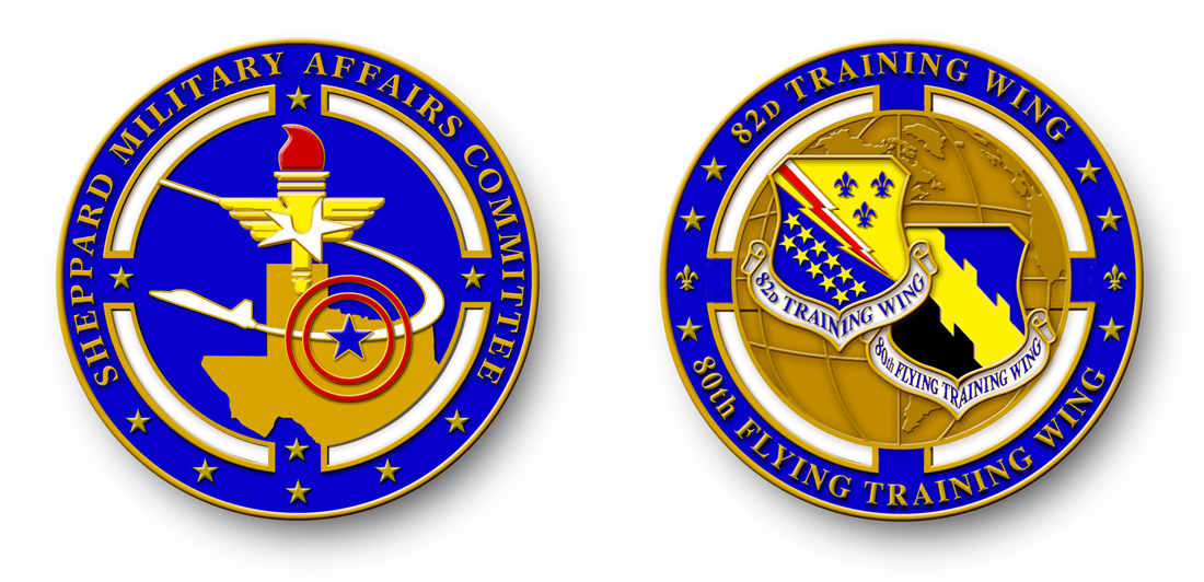 Sheppard Military Affairs Committee Coin Design