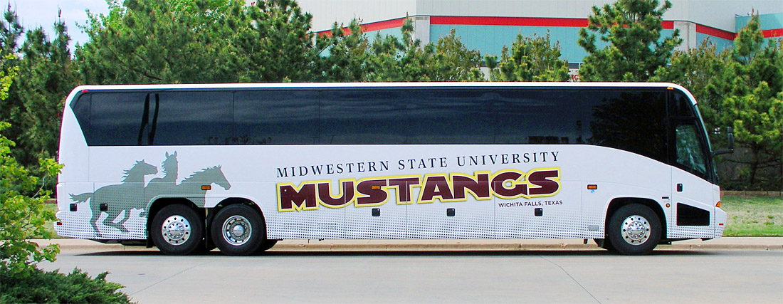 Mustangs Bus Wrap Design
