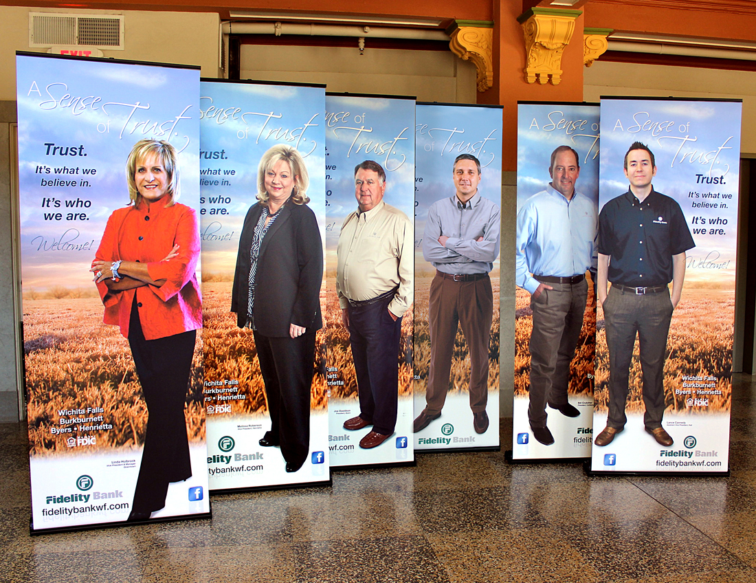 Fidelity bank Texas Pop-Up Banners Design