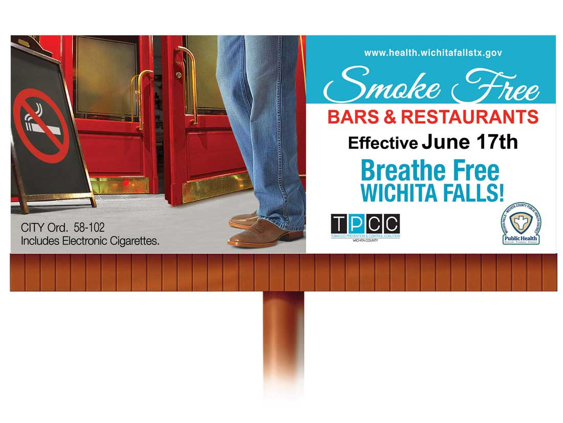 Health Wichita Falls Smoke Free Billboard Design