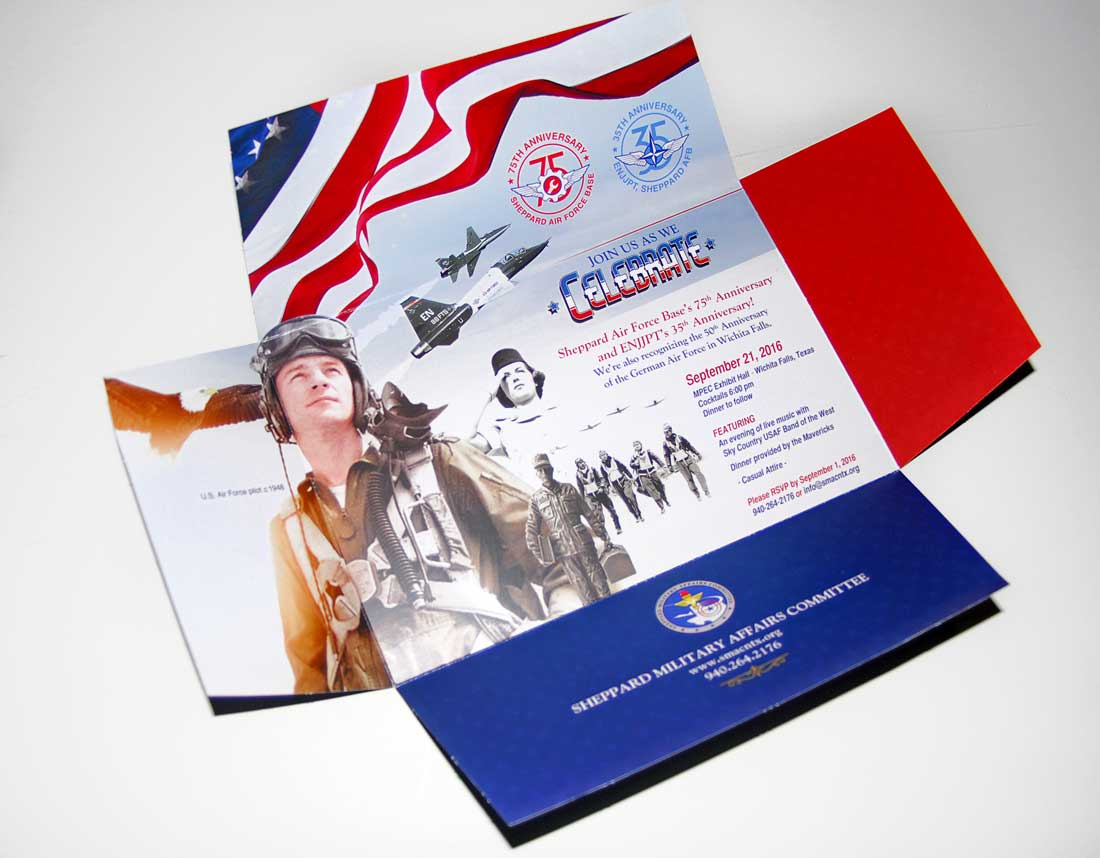 Sheppard Military Direct Mail Invitation Design