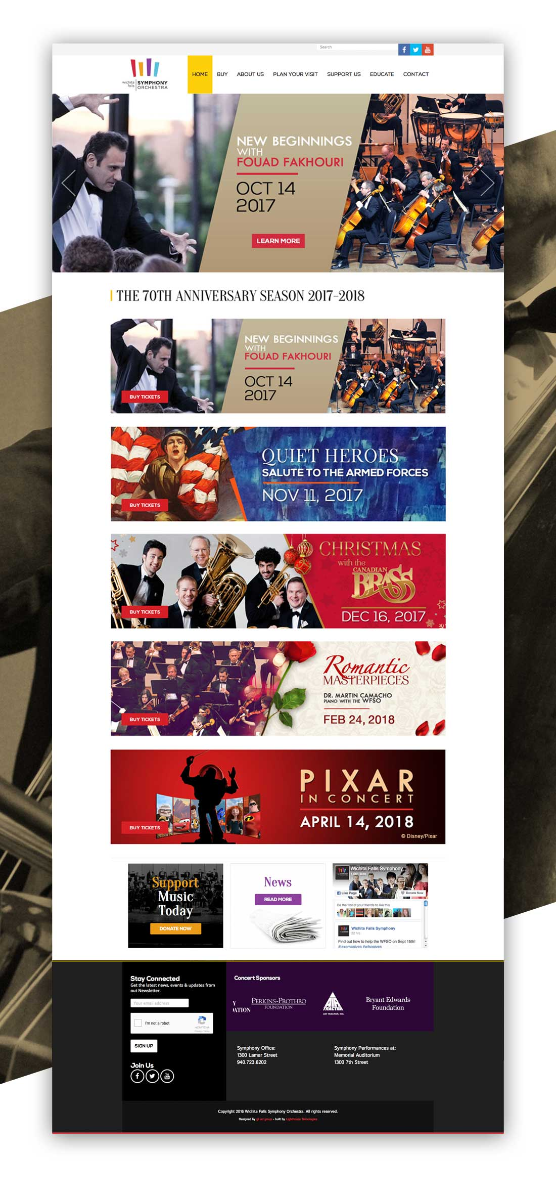Wichita Falls Symphony Orchestra Website Design