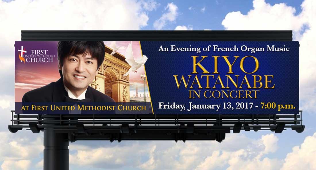 Kiyo Watanabe in Concert, Billboard Design
