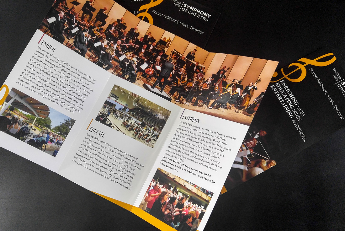 Wichita Falls Symphony Orchestra Brochure Design