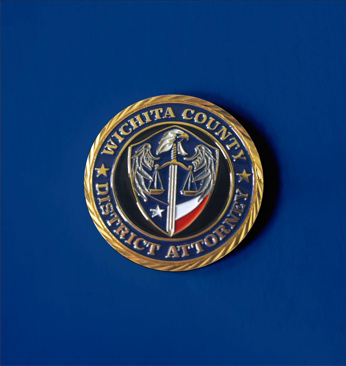 Wichita Falls District Attorney coin design