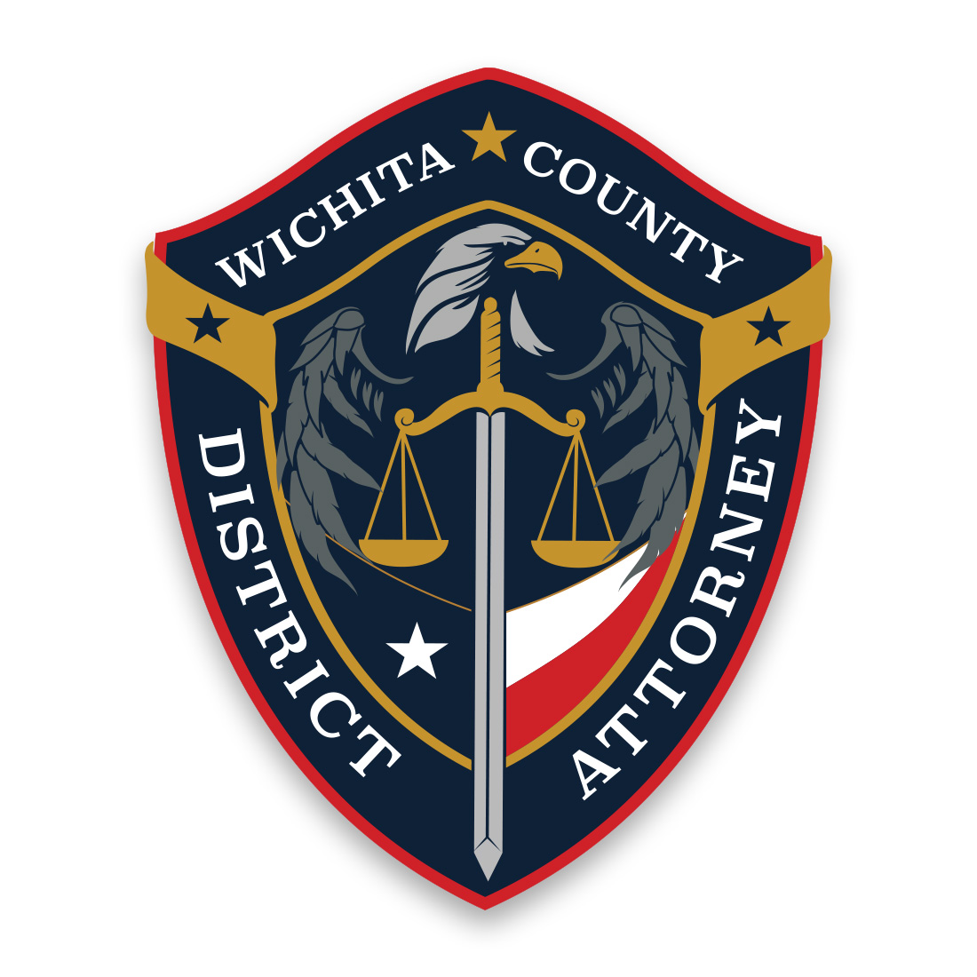Wichita County District Attorney Seal Design