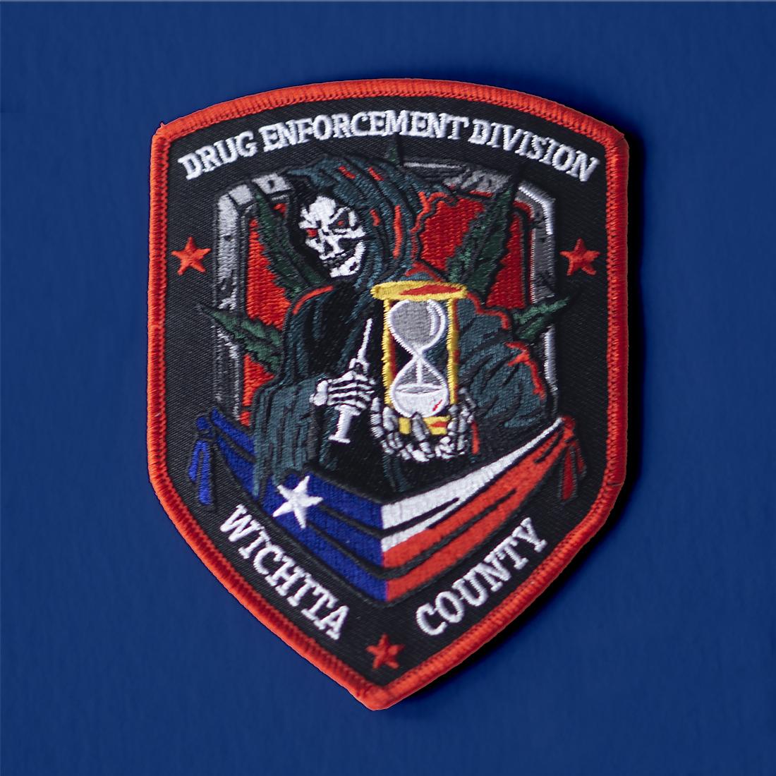 Wichita Falls Drug Enforcement Division patch design
