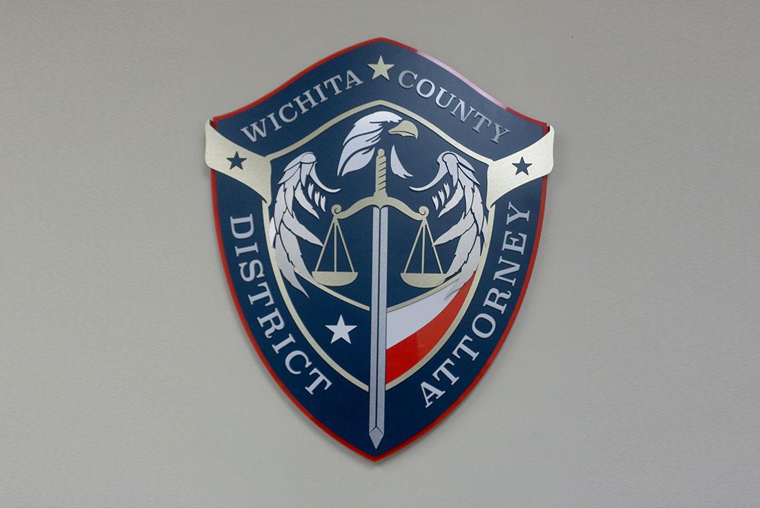 Wichita Falls District Attorney wall sign design