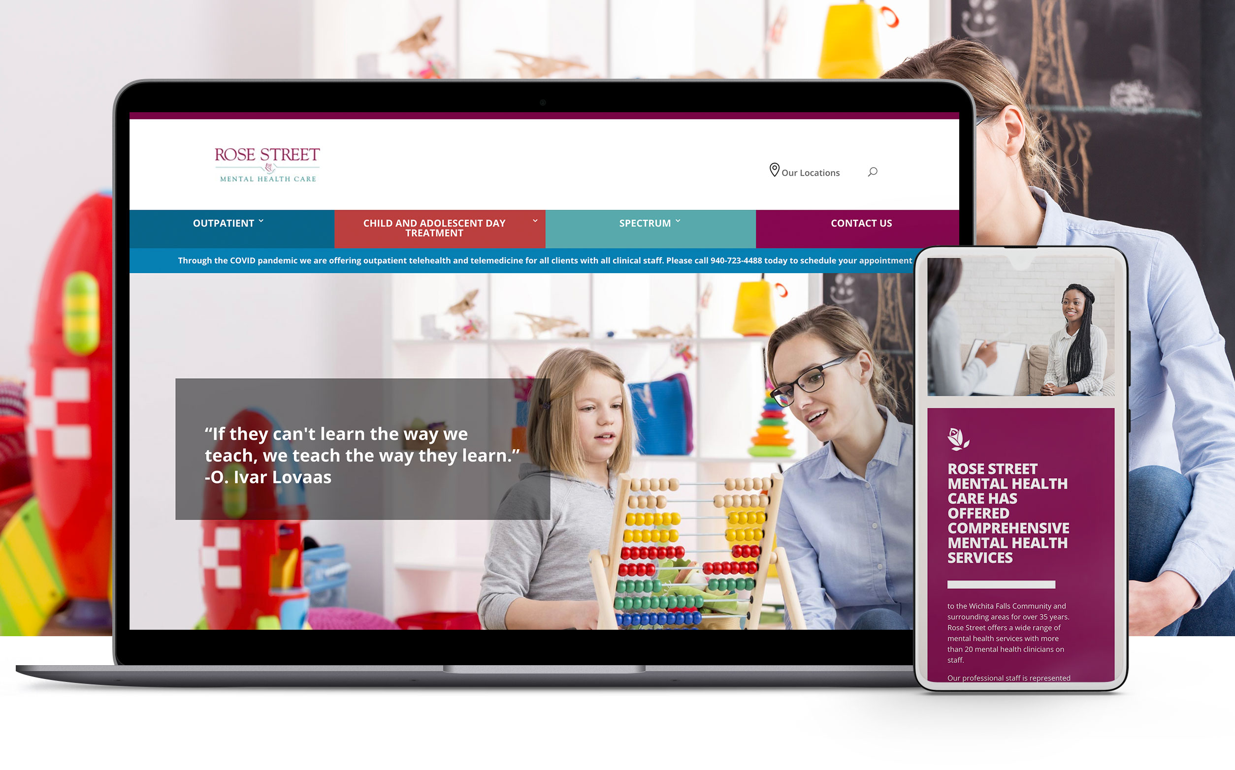 rosestreet website design and development